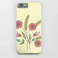 Floral placement on beige iPhone 6 Slim Case