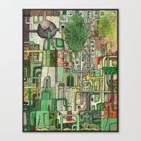 Green Kirkatron Canvas Print