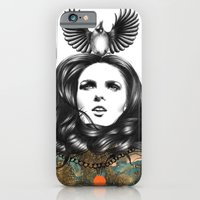 iPhone Cases featuring US AND THEM / THE OATH by Amanda Mocci