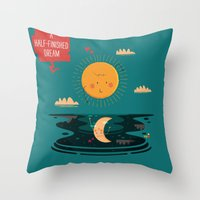:::A Half-Finished Dream… Throw Pillow