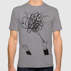 downbeat??  find my beat! Mens Fitted Tee Athletic Grey SMALL