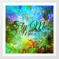FLY ME TO THE MOON, REVI… Art Print