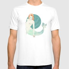 Amarna Mens Fitted Tee White SMALL