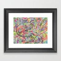 Basura Cerebro Framed Art Print
