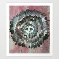 SKULL FLOWER 2 Art Print