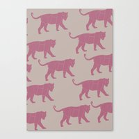 Pink Tigers Canvas Print