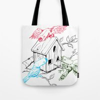 RGBirds Tote Bag