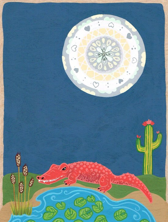 GatorMoon Art Print