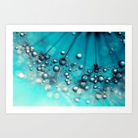 Sea Blue Shower Art Print