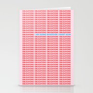 No More Obligations Stationery Cards