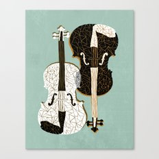 Two Violins Canvas Print