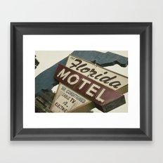 Florida Motel Framed Art Print
