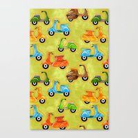 Mod Scooters Canvas Print