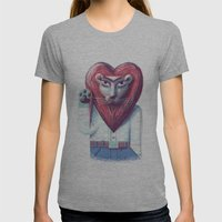 Lion's heart Womens Fitted Tee Athletic Grey SMALL