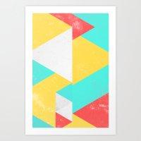 Triangle Pattern I Art Print
