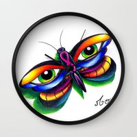 Butterfleyes Wall Clock