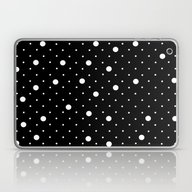 Pin Point Polka Dots Whi… Laptop & iPad Skin
