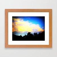 Digital Sky Framed Art Print