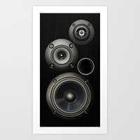 Speakers Art Print