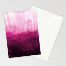 Paint 7 pink abstract painting ocean sea minimal modern bright colorful dorm college urban flat Stationery Cards