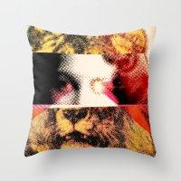 Lady Lion Throw Pillow