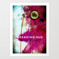 breaking bad Art Prints featuring BREAKING BAD by Michael Scott Murphy