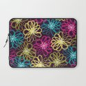 Drybrush Floral Laptop Sleeve