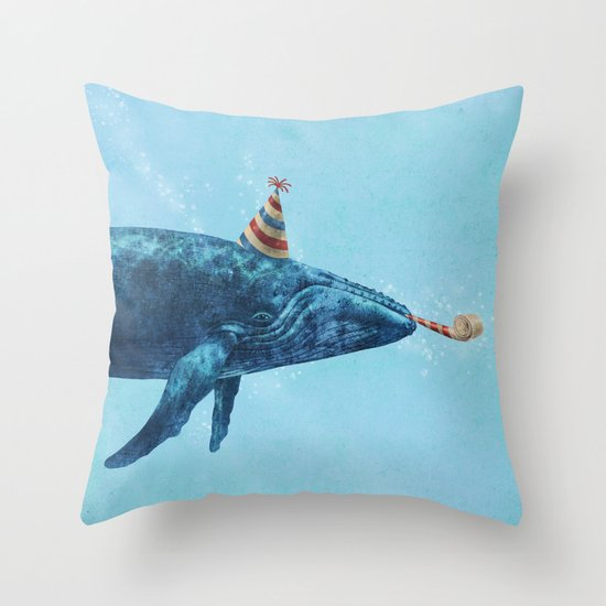 Party Whale  Throw Pillow
