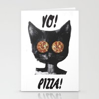 Pizza cat Stationery Cards