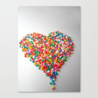 Colorful Heart Canvas Print