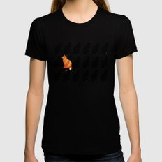 ODD CAT OUT Womens Fitted Tee Black SMALL