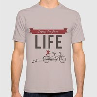 Enjoy the free life Mens Fitted Tee Cinder SMALL