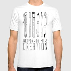 weapons of mass creation SMALL Mens Fitted Tee White
