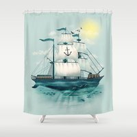 The Whaleship Shower Curtain