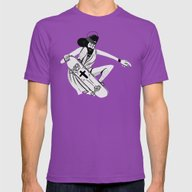 Jesus Skates Mens Fitted Tee Ultraviolet SMALL