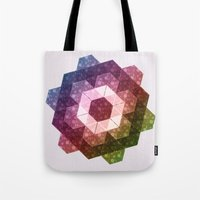 Patchwork Tiles IV (Rainbow flowers) Tote Bag