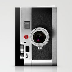 classic retro Black silver Leather vintage camera iPhone 4 4s 5 5c, ipod, ipad case Stationery Cards