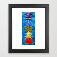 Chakra Art Print Yoga Ar… Framed Art Print
