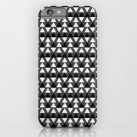 iPhone & iPod Case featuring Black & White Triangles by Stoflab