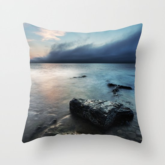 The Coming Fog Throw Pillow