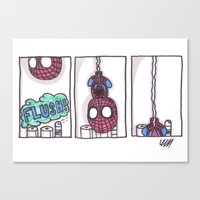 Spidey Is Weird Canvas Print