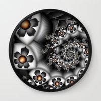Orange Fan. Wall Clock