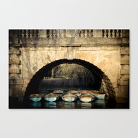 Oxford boats Canvas Print