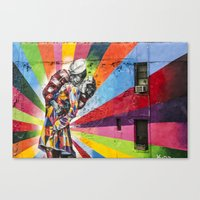 Times Square Kiss In Che… Canvas Print