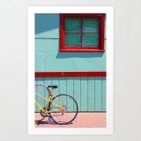 Yellow Bicycle Art Print