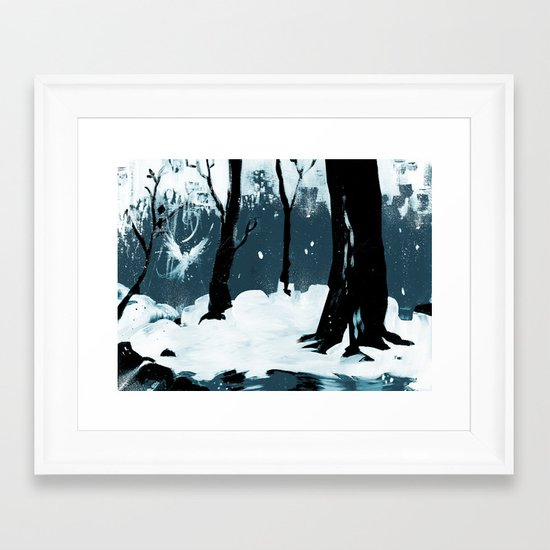 Snow Bird Framed Art Print