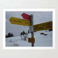 Swiss Adventure Art Print