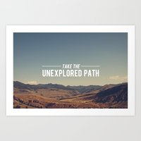 Take The Unexplored Path Art Print