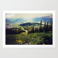 Down in the Valley Art Print