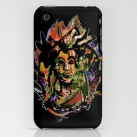 iPhone Cases featuring Original Mask  by Marcia Borges